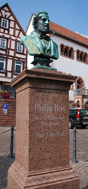 Gelnhausen - Monument to Philip Reis, an early telephone inventor
