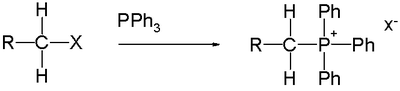 Synthesis of phosphonium halides from triphenylphosphine and an alkyl halide