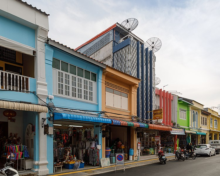 File:Phuket Town Thailand-Houses-in-Thalang-Road-01.jpg