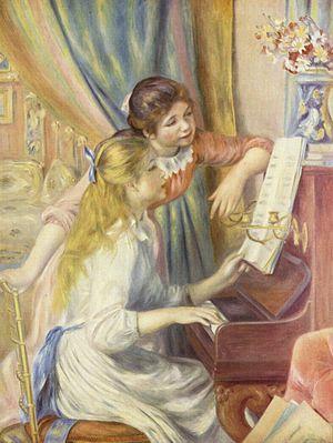 Deux jeunes filles au piano (peinture de Pierre-Auguste Renoir)