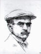 Pierre Blanc, Autoportrait avec casquette.png