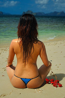 Thong (clothing) garment generally worn as either underwear or as a swimsuit in some countries