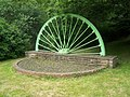 Pit wheel by the road in Treeton - geograph.org.uk - 1365617.jpg