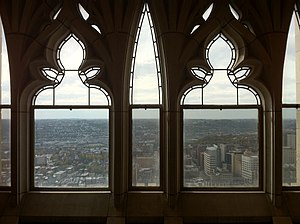 University of Pittsburgh Honors College - Looking west from windows in the Honors College