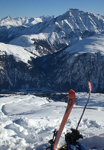 File:Piz Beverin, ganz unten Platz, dann Bruschgaleschg und Hof - panoramio.jpg
