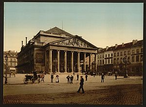 La muette de Portici - The Théâtre de la Monnaie (Muntschouwburg) where the performance of 25 August 1830 sparked riots leading to the Belgian Revolution