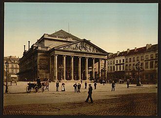 La muette de Portici - The Théâtre de la Monnaie (Muntschouwburg) where the performance of 25 August 1830 sparked riots leading to the Belgian Revolution