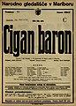 Plakat za predstavo Cigan baron v Narodnem gledališču v Mariboru 12. februarja 1927.jpg