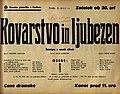 Plakat za predstavo Kovarstvo in ljubezen v Narodnem gledališču v Mariboru 6. marca 1940.jpg
