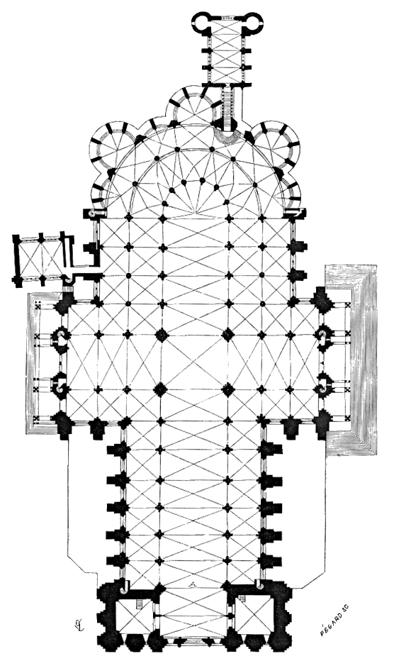 Plan.cathedrale.Chartres