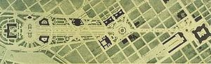 "Benjamin Franklin Parkway - ""Plan for the Fairmount Parkway"" (1917) by Jacques Gréber."