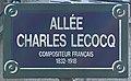 Plaque Allée Charles Lecocq - Les Lilas (FR93) - 2021-04-27 - 1.jpg