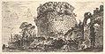 Plate 20- Tomb of Caecilia Metella called the Capo di Bove (Ox Head) (Sepolcro di Metela detto Capo di Bove) MET DP827971.jpg