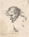 Plate 29- bust of a laughing satyr, facing left in profile, from 'Various portraits' (Recueil de diverses pièces servant à l'art de portraiture) MET DP831097.jpg