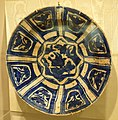 Plate with eight-pointed star and dove, Iran, c. 1700 AD, glazed earthenware - Huntington Museum of Art - DSC04859.JPG