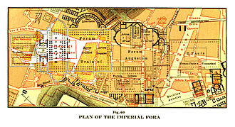 Trajan's Forum - Map of the Imperial Fora showing Trajan's Forum