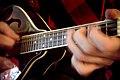 Playing mandolin in Montana USA March 2008.jpg