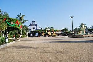 Ayutla, San Marcos - Main plaza and church in Ciudad Tecún Umán