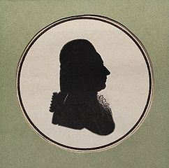 Silhouette of Marcello Bacciarelli.