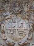 Polish coats of arms in Olesko castle entrance