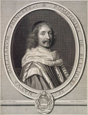 Robert Nanteuil - Portrait of Pompone de Bellièvre, after Charles Le Brun