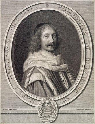 Robert Nanteuil - Portrait of Pompone de Bellièvre, after Charles Le Brun