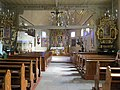 Poniszowice, kościół św. Jana Chrzciciela, wnętrze, widok w stronę ołtarza.JPG