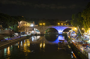 Pons Cestius at night.jpg