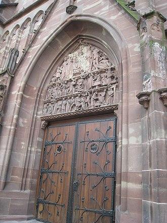 Old Saint Peter's Church, Strasbourg - Image: Portail de l'église Saint Pierre le Vieux catholique de Strasbourg