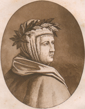 Portrait of Guido Cavalcanti from Rime, 1813 - BEIC.tif