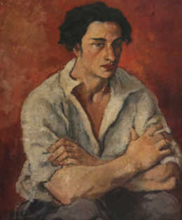 Portrait of a Young Man - 1930 by Amrita Sher-Gil.png