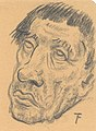 Portret van een oude man, Felix Timmermans, tekening, Letterenhuis (Antwerpen) - tg lhtk 8028.jpg