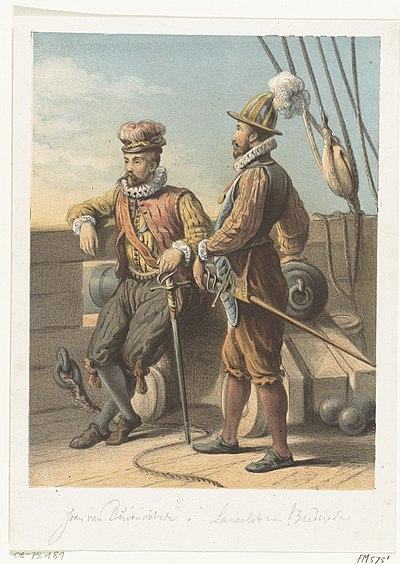 Portretten van de watergeuzen Jan van Duivenvoorde en Lancelot van Brederode, 1572, RP-P-OB-79.181