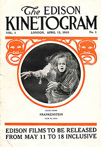 Poster Frankenstein film 1910