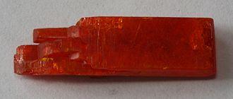 Potassium dichromate - Image: Potassium dichromate (synthetic)