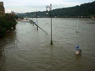 2002 European floods - Flooding in Prague