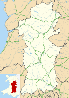 Aberbrân is located in Powys