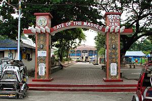Pozorrubio, Pangasinan - Plaza with Municipal Hall in background