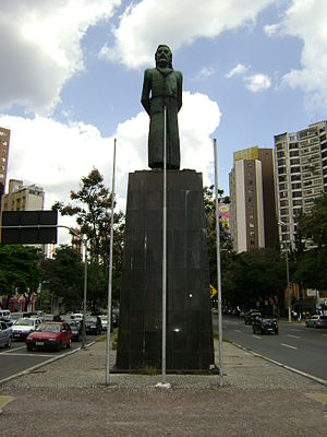 Tiradentes - Statue of Tiradentes being hanged in Tiradentes Square (Praça Tiradentes), in Belo Horizonte, Brazil.
