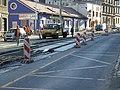 Praha, Radlice, rekonstrukce tramvajové trati III.jpg