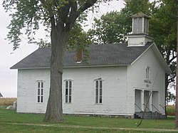 Prairie Dell Meetinghouse, a historic site in the township's west