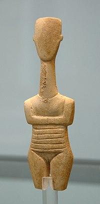 Pregnant Cycladic figurine Staatliche Antikensammlungen.jpg