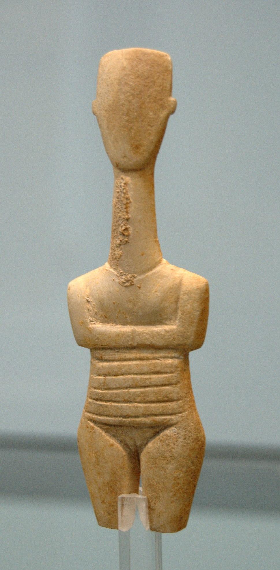 Pregnant Cycladic figurine Staatliche Antikensammlungen