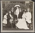 Pres. and Mrs. Theodore Roosevelt seated on lawn, surrounded by their family LCCN95504424.jpg