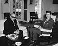 President John F. Kennedy with Ambassador of the United Arab Republic, Dr. Mostafa Kamel.jpg