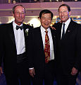 President Steven H. Kaplan with Dr. Henry C. Lee and Sen. Dick Blumenthal.jpg