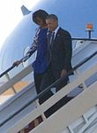 President and First Lady Obama Disembark From Air Force One Upon Arriving in Riyadh (cropped).jpg