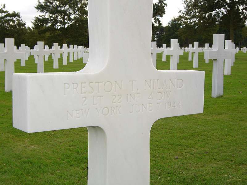 Fichier:Preston Niland Grave Marker.jpg