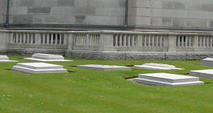 Royal Burial Ground, Frogmore - Princess Louise, Duchess of Argyll's grave (centre) at the Royal Burial Ground, Frogmore