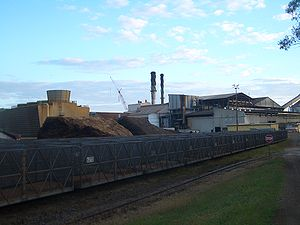 Sugar mill in Proserpine, Queensland, and the ...